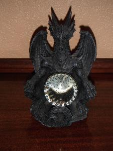 Dragon with crystal ball
