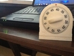 timer and laptop