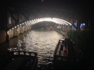 san antonio riverwalk at night