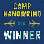 camp nanowrimo 2015 winner badge